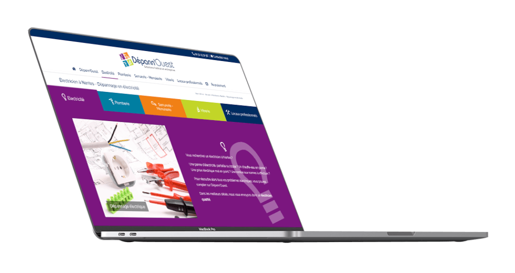 Création du site internet de Dépann'Ouest - Agence web - Label Site Nantes