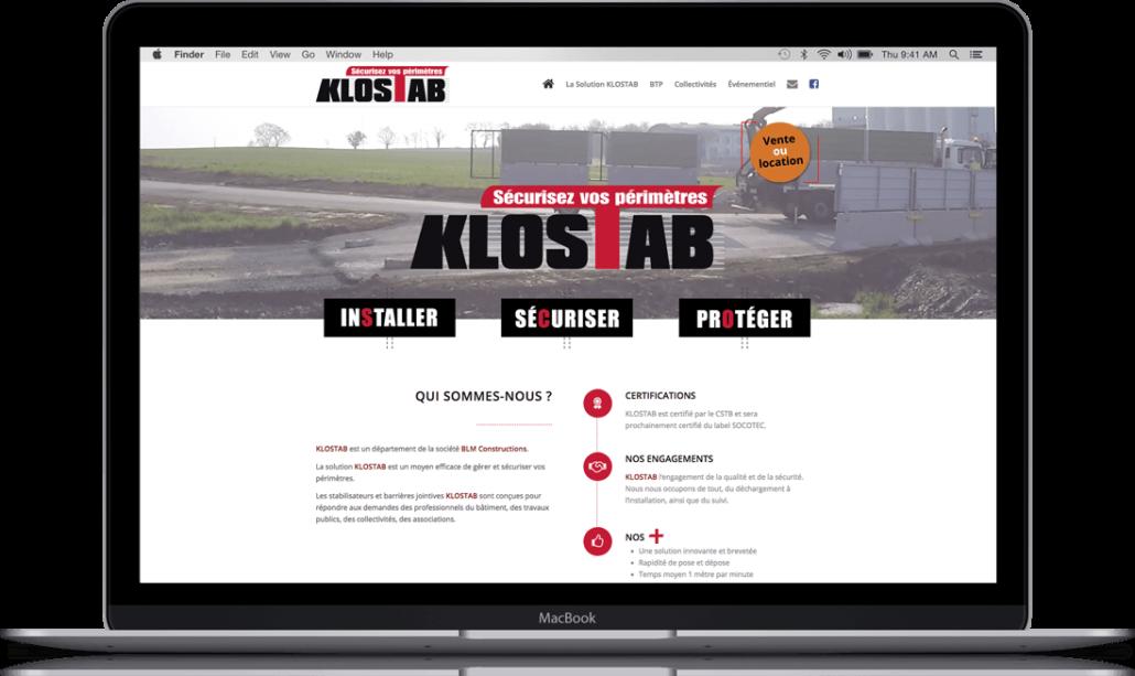 Création du site internet de Klostab - Agence web - Label Site Nantes