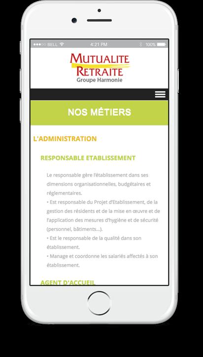 Création du site internet de Mutualité Retraite - Agence web - Label Site Nantes