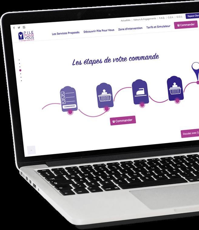 Création du site internet de Pile Pour Vous - Agence web - Label Site Nantes