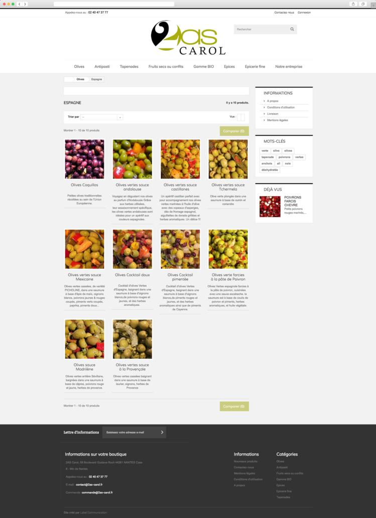Création du site internet de 2AS Carol - Agence web - Label Site Nantes
