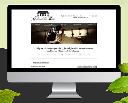 Création du site internet du Château de la Rairie - Agence web - Label Site Nantes
