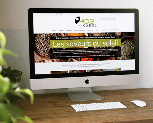 Création du site internet de 2AS Carol - Agence web - Label Site Nantes