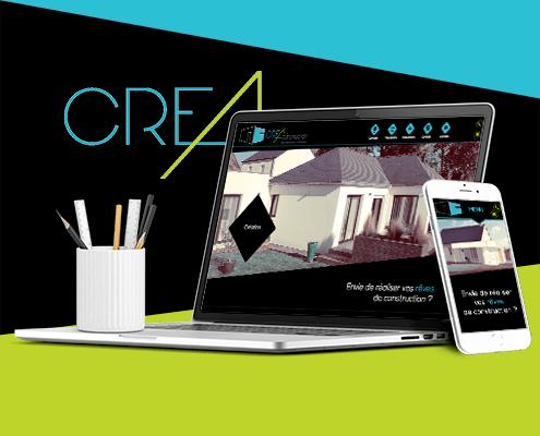 Création du site internet de Créa Construction - Agence web - Label Site Nantes