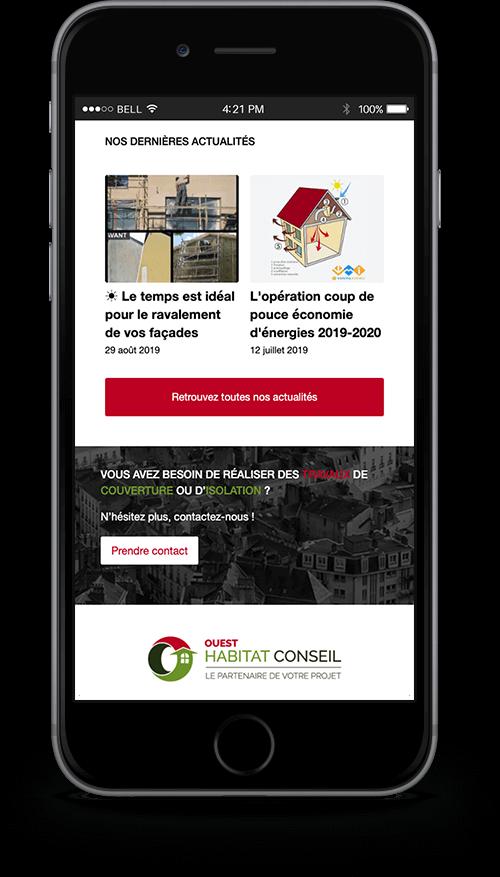 Création du site internet de Ouest Habitat Conseil - Agence web - Label Site Nantes